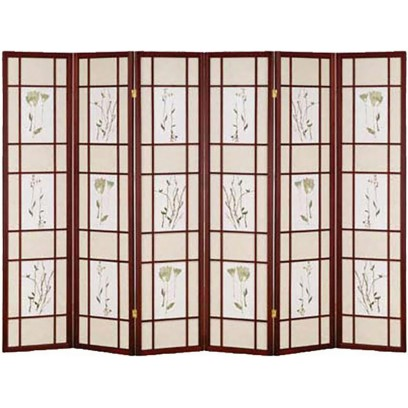 Botanical Cherry 6 Panel Shoji Screen