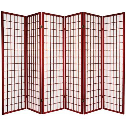 Cherry 6 Panel Shoji Screen