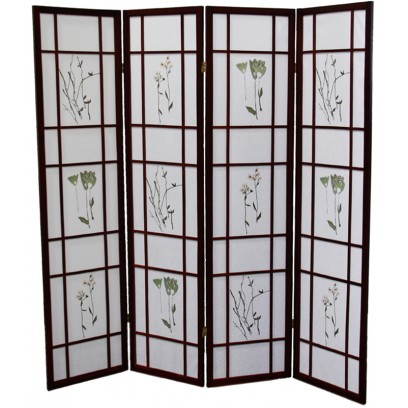 Botanical Cherry 4 Panel Shoji Screen